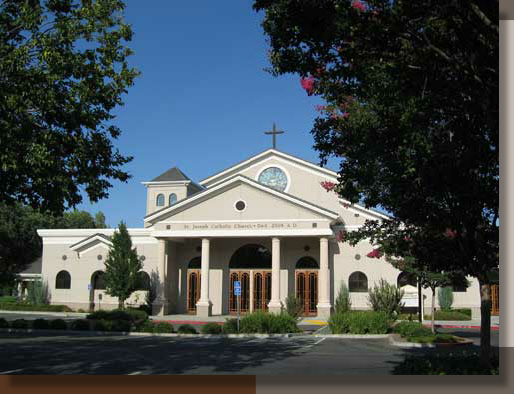 Landscaping at Saint Joseph Church in Vacaville, CA